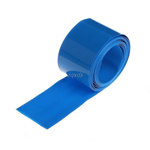 2m PVC Heat Shrink Tube Wrap Kit For 18650 18500 Battery Flat Round 18.5mm Hot Dropship