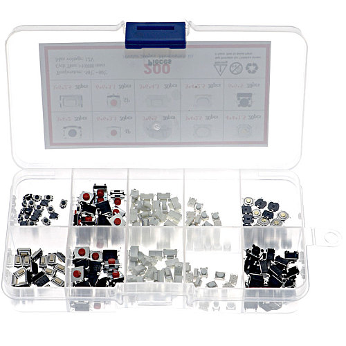 200pcs/Box Micro Switch 10 Types Remote Control Key SMD SMT Switch Microswitch For TV Audio Equipment