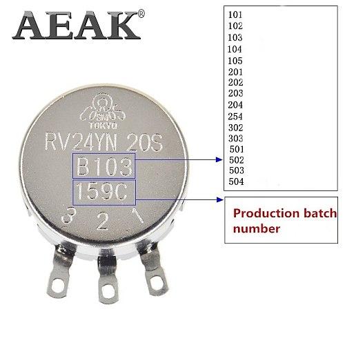 AEAK RV24YN20S RV24YN20S-B502 5K Potentiometer RV24YN 502 5K Single Coil Carbon Film Potentiometer RV24YN