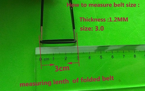 Mix Pack Cassette Tape Machine Belt 25/30/35/38/40/45/50/55/60/65MM Assorted Common Belt REPAIR REBUILD