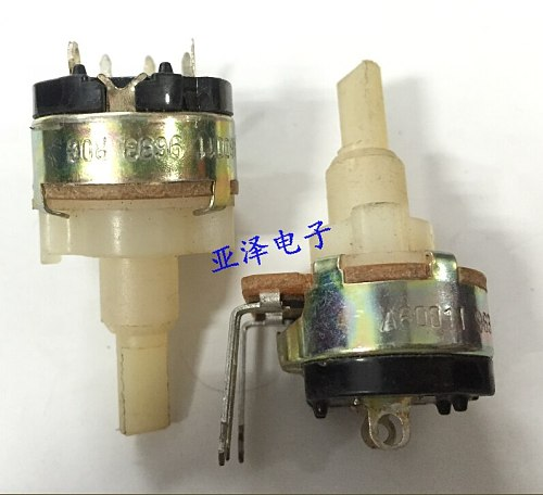 2PCS Dimming potentiometer 350K single with rotary switch A60011 9633 ROG shaft length 22MM