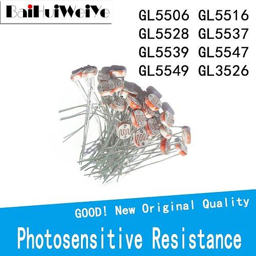 50PCS/LOT Photosensitive Resistance GL5506 GL5516 GL5528 GL5537 GL5539 GL5547 GL5549 GL3526 LDR Photo Light Sensitive Resistor