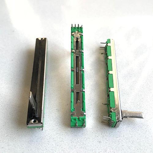 6pcs potentiometer A50K duplex potentiometer mixer fader 75MM A50K*2