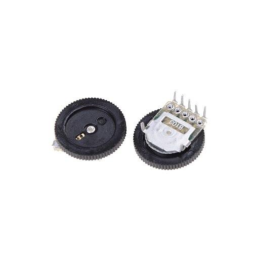 10Pcs New Volume Wheel Duplex Potentiometer B103 10K Ohm practical Double Dial Taper 16X2mm
