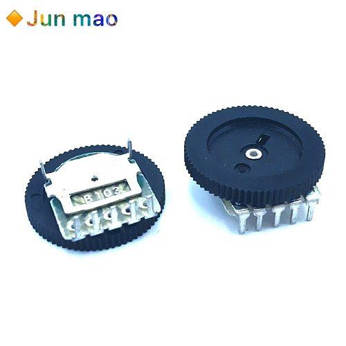 B503 B103 16x2mm 50K 10K 3PIN 6PIN Double Single Dial Taper Volume Wheel Duplex Potentiometer Disc potentiometer Volume Switch