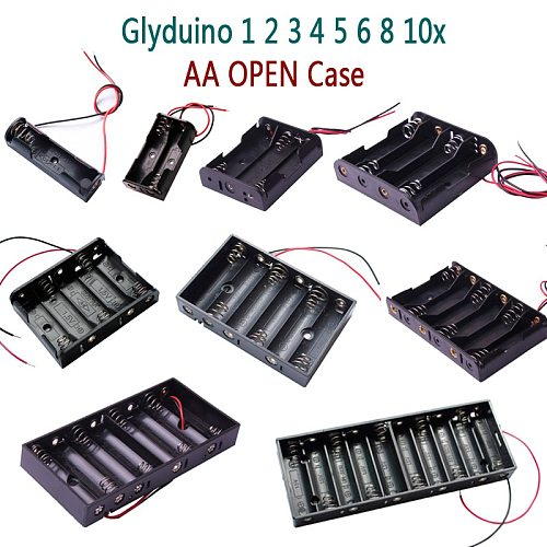 Glyduino 1/2/3/4/5/6/8/10 Section on the 5th Battery Compartment Lid Sealed Switch Installed AA Batteries OPEN Case