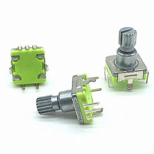 2pcs/lot EC11 Rotary Encoder Code Switch 30 Position With Push Button Switch 5pin 12.5mm Plum Shaft