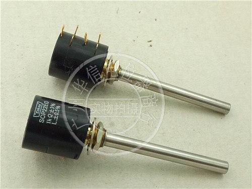[VK] Japan  SAKAE SCP22EG 1K double potentiometer conductive plastic potentiometer shaft 6MM switch