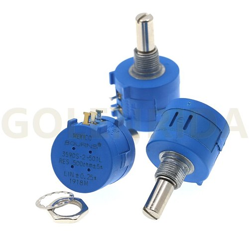 1PCS 3590S-2-201L 3590S 200 ohm 201 3590S-2-201 3590S-201 Precision Multiturn Potentiometer 10 Ring Adjustable Resistor