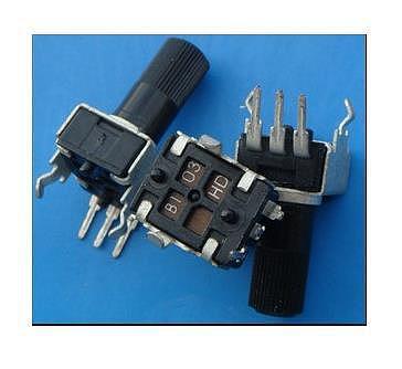 Free Shipping! 10pc RV09-type vertical adjustable potentiometer / variable resistor 1K 2K 5k 10K 20K 50K 100K 200k