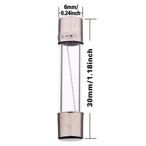 150Pcs/Box 6x30mm Fast-blow Glass Fuse Assorted Kit 0.25A 0.5A 1A 2A 3A 4A 5A 6A 7A 8A 10A 15A 20A 25A 30A