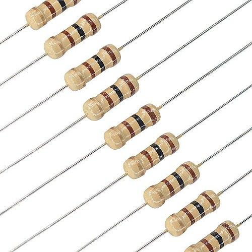 100pcs 1/2W Carbon Film Resistor 0R-22M 5% 680K 2M 6.8M 9.1M 12M 15M 47R 100R 220R 1K Electronics Resistance Assorted Diy Kit