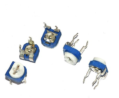 Free shipping 100pcs/lot Blue white Adjustable resistor 101 100R Horizontal Potentiometer