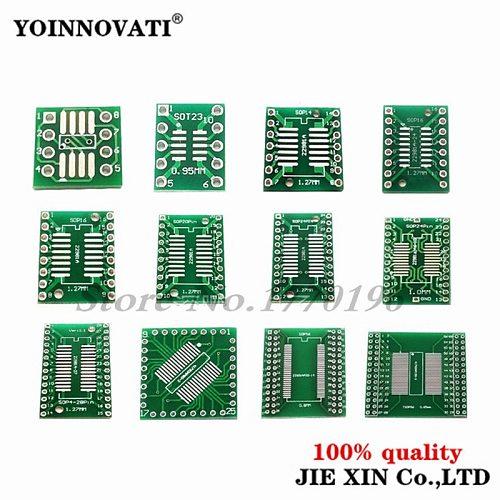 10PCS PCB Board SMD Turn To DIP SOP MSOP SSOP TSSOP SOT23 SOP8 SOP14 SOP16 SOP-8 10 SOP-14 SOP-16 SOP-20 24 SOP-28 SMT To DIP