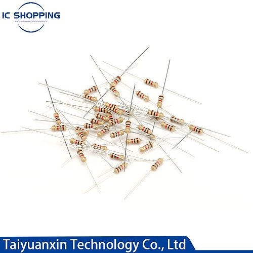 1000PCS 1/4W 0.25W Carbon Film Resistors 5% Ring Power Resistor 0.1~10M 2 4.7 10R 47 100 220 360 470 1K 2.2K 10K 22K 4K7 100KOhm