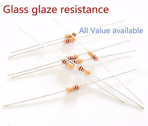10pcs RI40 1/4W 1M 2M 5M 10M 22M 50M 100M ohm Glass glaze resistance Thick film resistors 5% 1000MR ohm