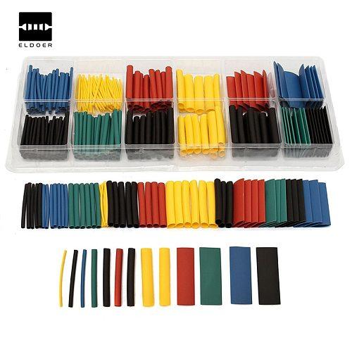 280pcs 8 Sizes Multi Color Polyolefin 2:1 Heat Shrink Tubing Tube Sleeving Tube Assortment Sleeving Wrap Wire Kit tubes Kits