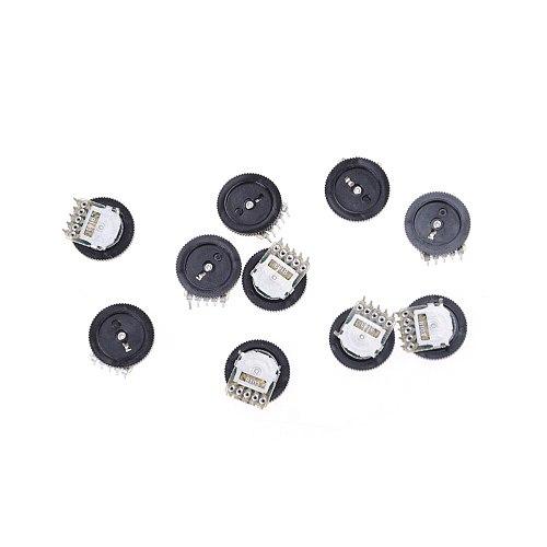 10pcs  B103 16x2mm 10K Ohm Double Dial Taper Volume Wheel Duplex Potentiometer Drop Ship
