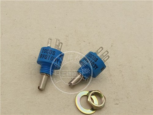 [VK] TOCOS RVQ103Y B103M B502M 5K 10K conductive plastic potentiometer 360 degrees blue switch