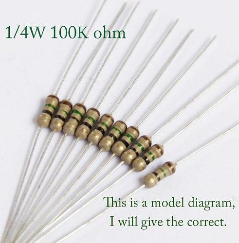 1/4w 100k 120k 150k 180k 200k 220k 240k 270k 300k 330k 360k 390k ohm 0.25w Original Carbon Film Resistors Resistance 5% 1000pcs