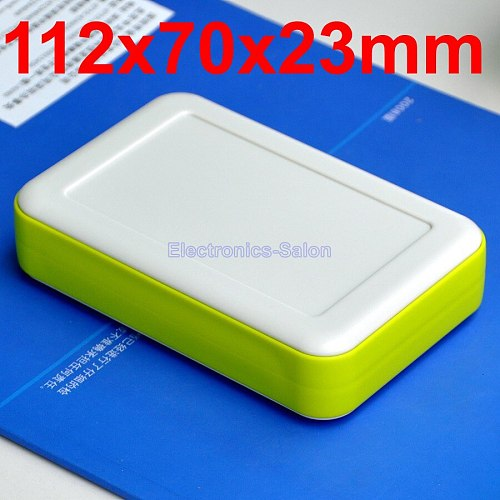 HQ Hand-Held Project Enclosure Box Case,White-Lawngreen, 112 x 70 x 23mm.