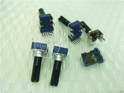 Original new 100% 142 Type vertical duplex potentiometer W50K C500K 6pin band midpoint handle 23MMF (SWITCH)