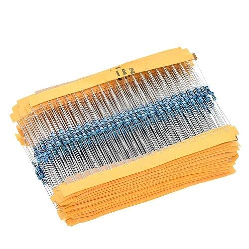 TZT 100pcs  1/4W 1R~22M 1% Metal Film Resistor 100R 220R 1K 1.5K 2.2K  4.7K 10K 22K 47K 100K 100 220 1K5 2K2  4K7 Ohm Resistance