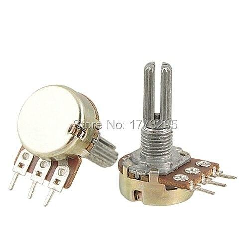 10 PCS High Quality WH148 B10K Linear Potentiometer Pot single joint 1K 2K 5K 10K 20K 50K 100K 250K 500K 1M 500 Ohm for Arduino