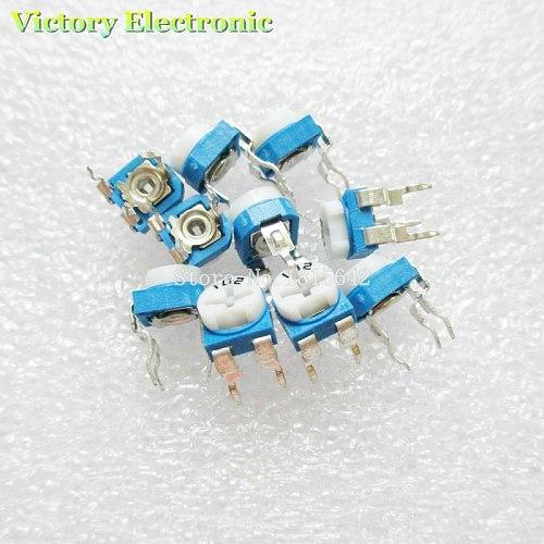 New 50PCS/Lot Trimmer Potentiometer RM065 RM-065 500Rohm 501 500R Trimmer Resistors Variable adjustable Resistors Wholesale