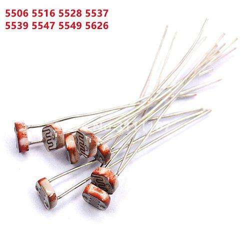 50PCS/LOT LDR Photo Light  Sensitive Resistor Photoresistor  Photoelectric Photosensitive Resistance GL5528  5537 5506 5516 5539