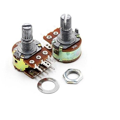 5PCS  WH148 B 1K 2K 5K 10K 20K 50K 100K  500K  6PIN  Double Potentiometer  15MM 20MM