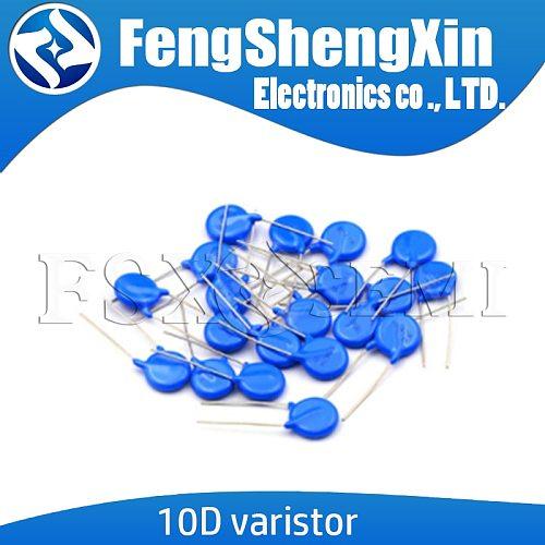 20pcs 10D Varistor 10D270K 10D330K 10D390K 10D470K 10D241K 10D391K 10D431K 10D471K 10D561K  10D331K piezoresistor 10MM