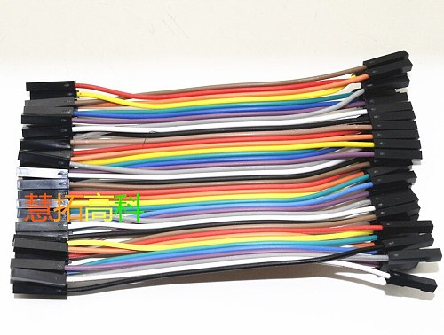 40pcs/lot 10cm 2.54mm 1pin feMale to feMale jumper wire Dupont cable for Breadboard power module