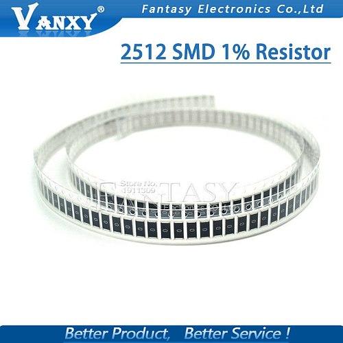 50Pcs 2512 SMD chip fixed resistor 1% 1W 0.1R 0.01R 0.05R 0.001R 0.33R 0.5R 1R 0R 10R 100R 2W 0.001 0.01 0.1 0.33 0.05 1 0 ohm