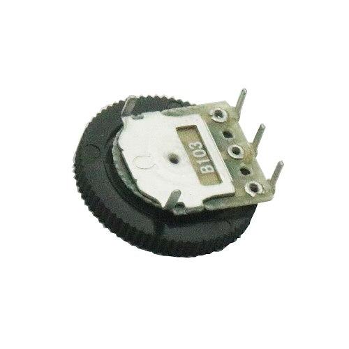 10 Pcs B103 16x2mm 10K Ohm Double Dial Taper Volume Wheel Duplex Potentiometer