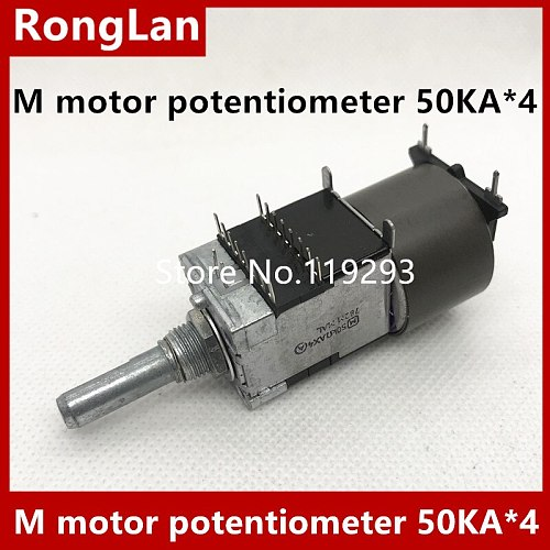 Original M motor potentiometer 50KA*4 volume potentiometer A50KX4--5PCS/LOT