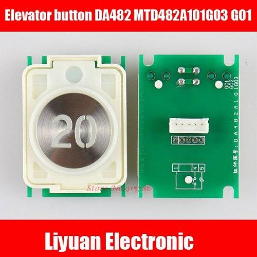 36mm diameter elevator button DA482 MTD482A101G03 G01 elevator accessories DC12V orange red button Single plugin Dual plugin
