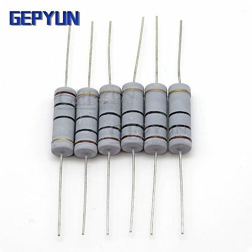 10pcs 5W Carbon Film resistor 5% 1R ~ 1M 2.2R 10R 22R 47R 51R 100R 150R 470R 1K 4.7K 10K 47K 10 22 47 51 100 150 Ohm resistance