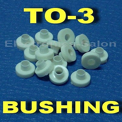 ( 50 pcs/lot ) Insulation Bushing for TO-3 Transistor, Washer.