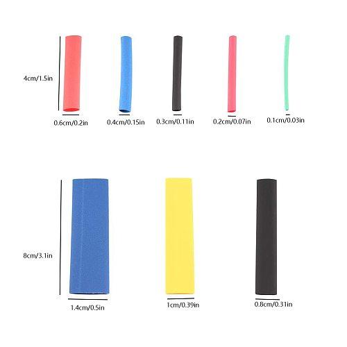 164 Pcs/set Wire Heat Shrink Sleeve Assorted Set Polyolefin Insulation Cable Shrinkable Tubing Tube