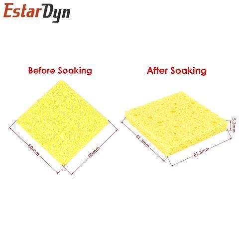 High quality 10Pcs 6CM*6CM High Temperature Resistant Sponge Electric Iron Tip Cleaning Sponge Rectangular 6CM*6CM