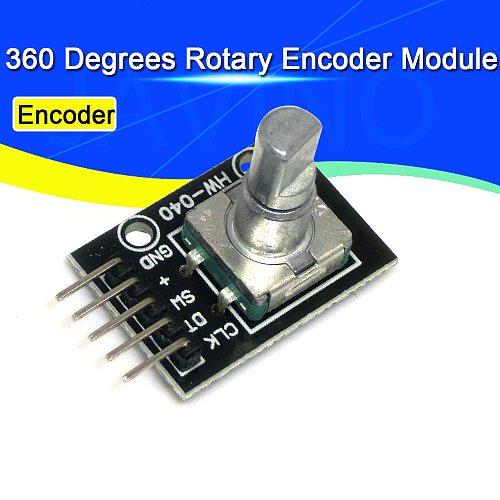 Javino 360 Degrees Rotary Encoder Module For Arduino Brick Sensor Switch Development Board KY-040 With Pins