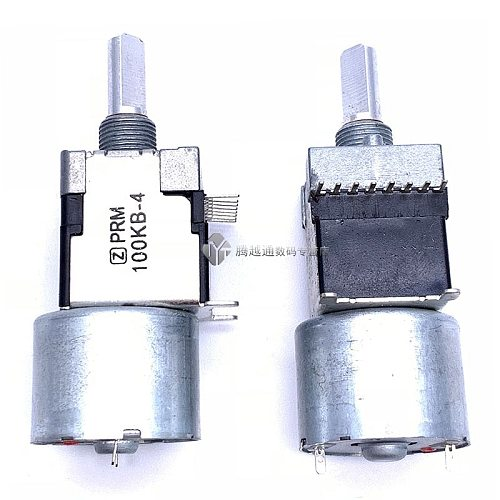 RK168 motor potentiometer stereo channel B100K * 2 axis 20MM power discharge machine drive volume potentiometer