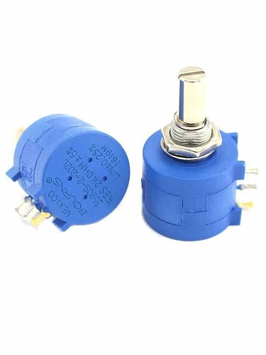 2pcs 3590S Precision Potentiometer 1K 2K 5K 10K 20K 50K 100K ohm Adjustable Resistor 3590 102 103 502 103 203 503 104 MINGDONG