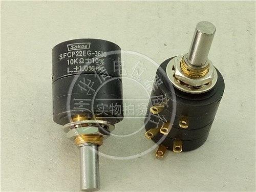 [VK] Japan Sibo sakae SFCP22EG-3630 10K double conductive plastic potentiometer shaft diameter 6MM switch