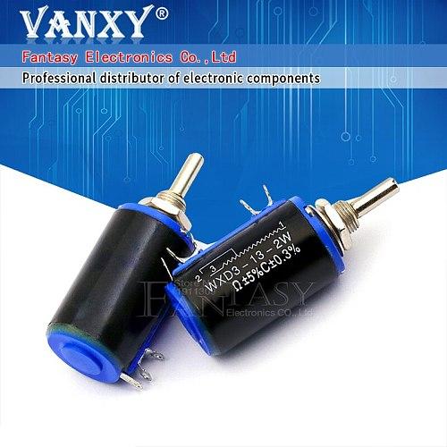 2PCS WXD3-13-2W 680 ohm WXD3-13 2W Rotary side Rotary Multiturn Wirewound Potentiometer