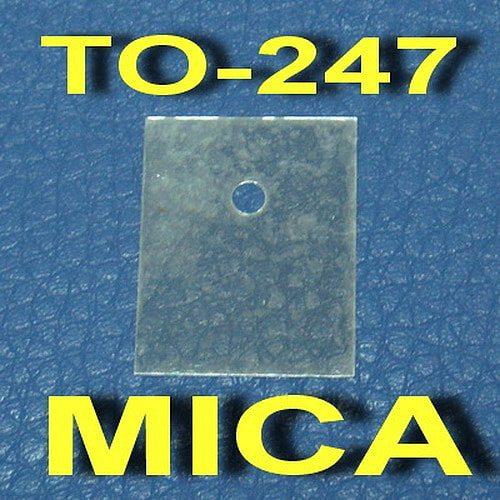 ( 50 pcs/lot ) TO-247 Transistor Mica Insulator,Insulation sheet.