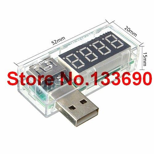 1pcs Digital USB Mobile Power charging current voltage Tester Meter Mini USB charger doctor voltmeter ammeter