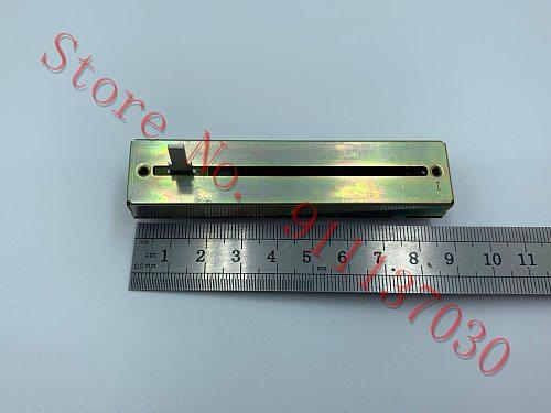 1pcs   for ALPS 8.8 cm double sliding potentiometer B50K*2 15MM volume fader long axis