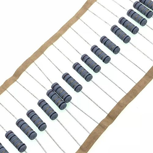 50pcs/lot 1W 5%  wire wound resistor Fuse winding resistance  0.1R 0.15R 0.33R 1R 2R 2.2R 3R 4.7R 5.1R 6.8R 10R 22R 47R 100R